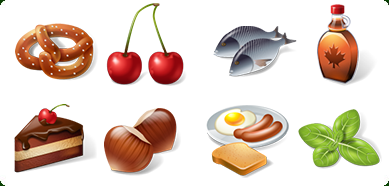 3D Food Icon Set