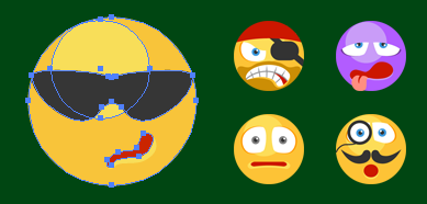 Flat SVG Emoticons