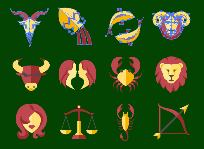 Zodiac Sign SVG Icons