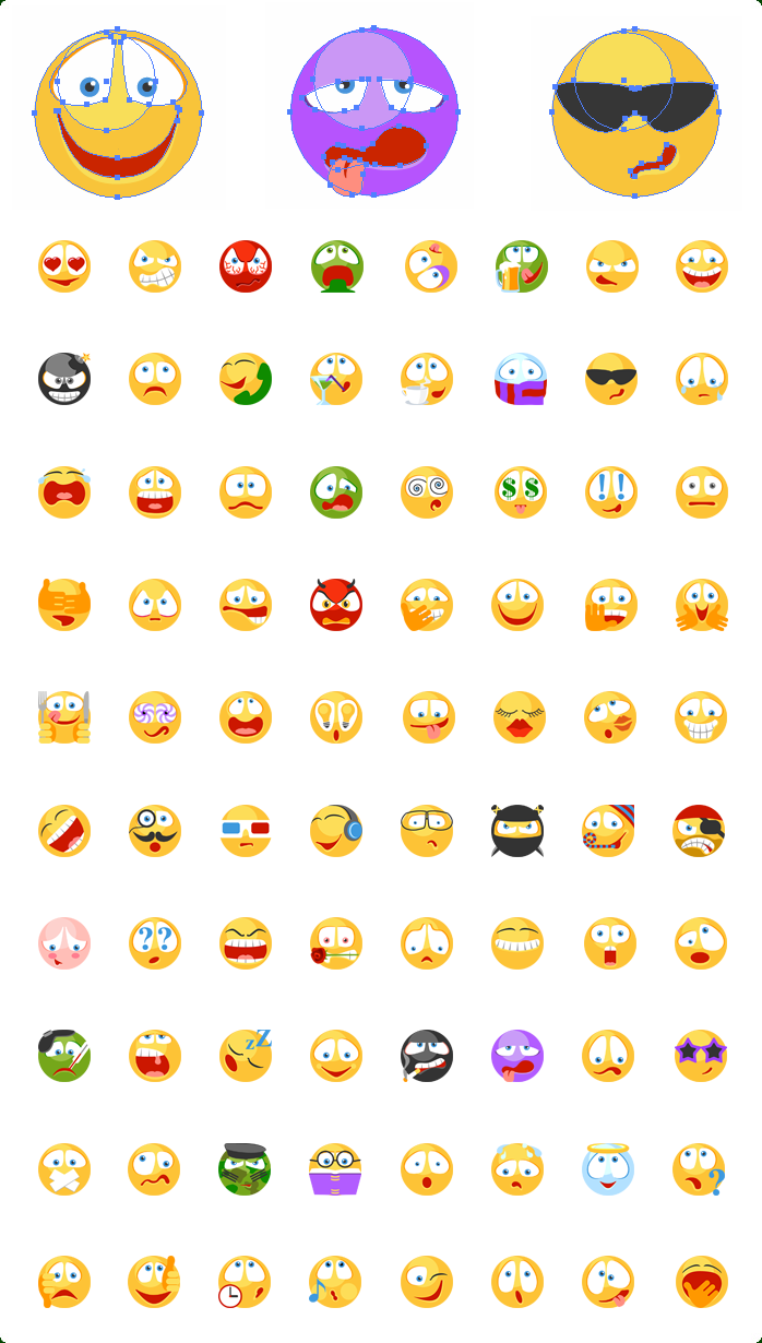 Emoticons Vector Icons