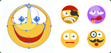 Flat Vector Emoticons