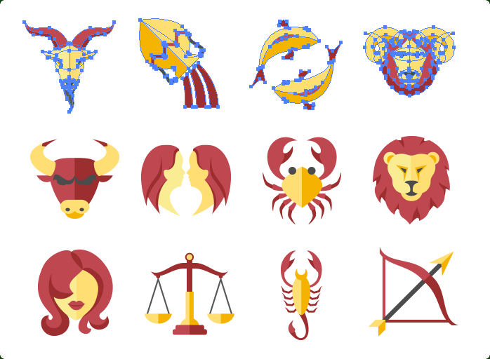 Zodiac Vector Icons