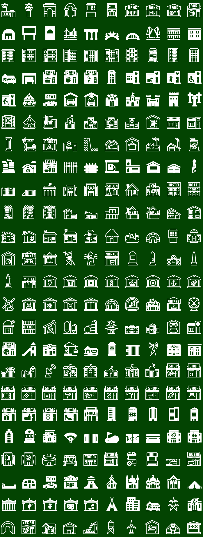 Metro Buildings Icons