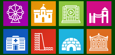 Metro Buildings Icon Set