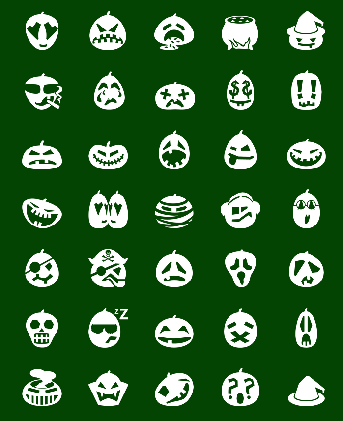 Icons preview of Metro Halloween Pumpkin Emoticons