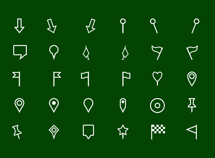Metro Map Markers Icons - Outline icons