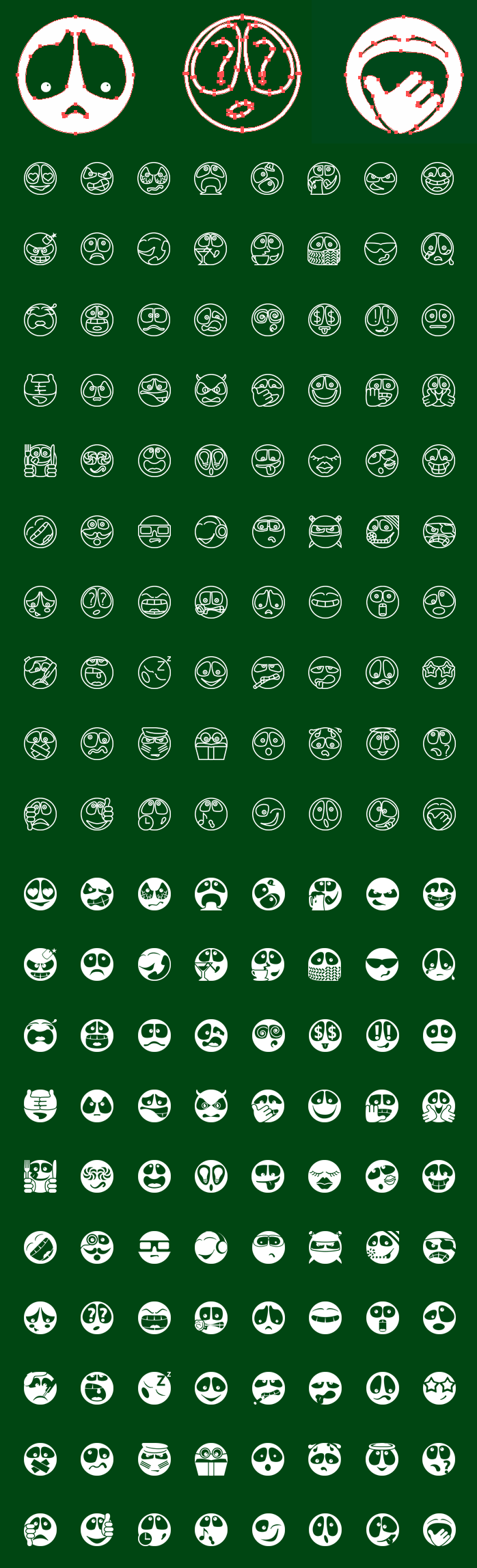 Metro Emoticons SVG Icons