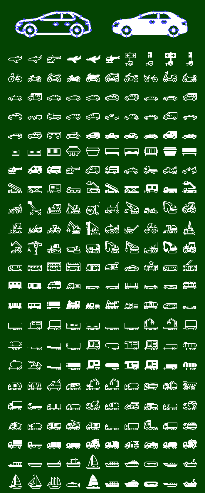 Metro Transport SVG Icons