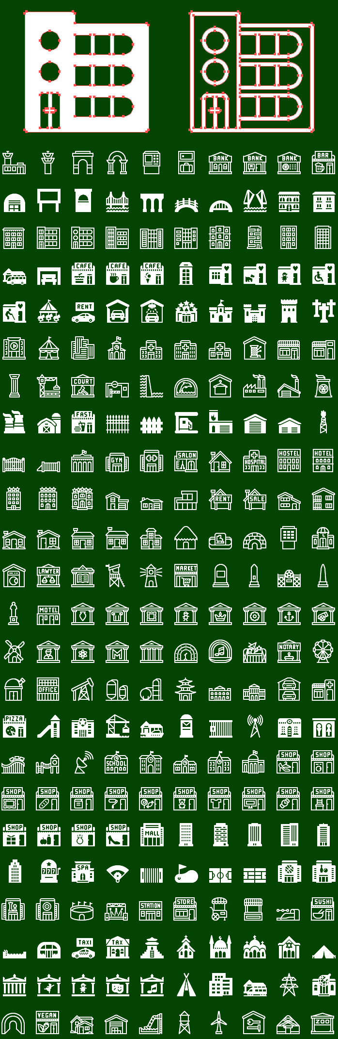 Vector Metro Buildings Icons