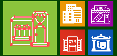 Metro Buildings Vector Icons
