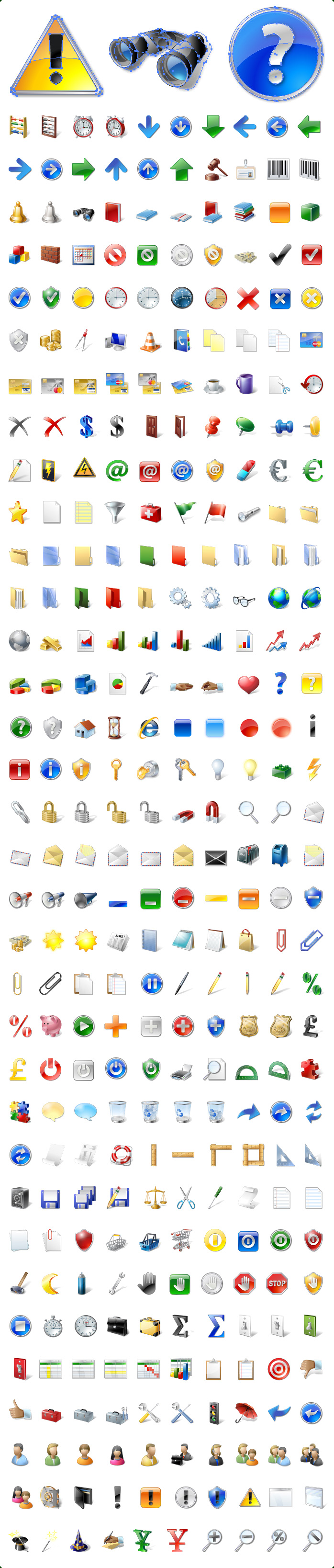 Icons preview of Base Software Vector Icons