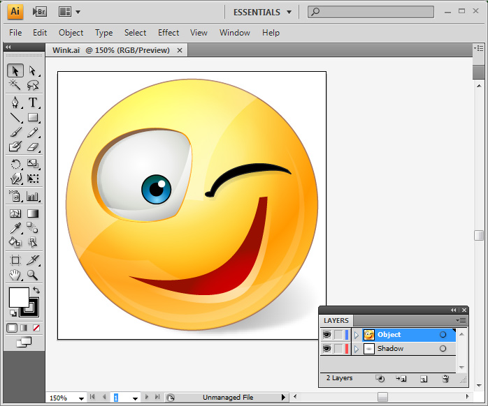 Vector Emoticons - one icon in Adobe Illustrator