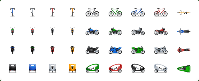 Motorcycle Icons, Bike Icons