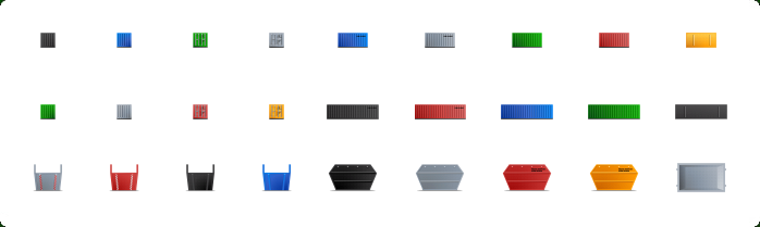 Containers Icons