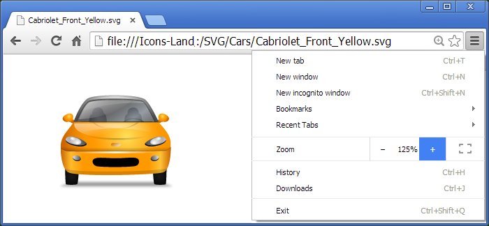Transport Multiview SVG Icons - one icon in Adobe Illustrator