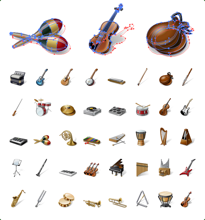 Musical Instruments Vector Icons