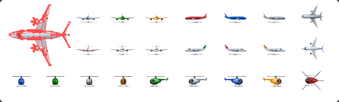 Airplane Icons, Aircraft Icons