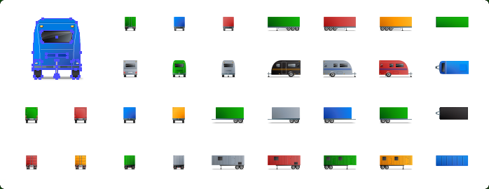 Trailer Icons, Semi-trailer Icons