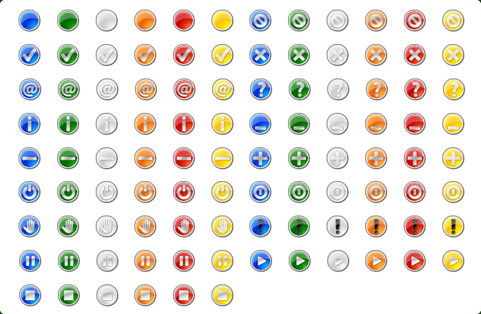 Round Button Icons