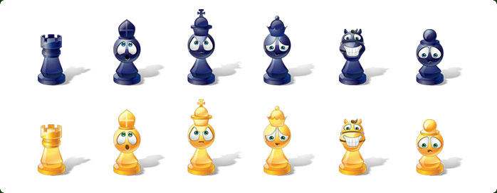Icons preview of Vista Style Chess Emoticons