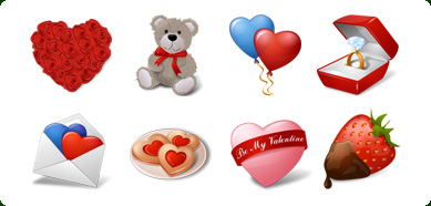 Vista Style Love Icons Set