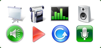 Vista Style Multimedia Icon Set