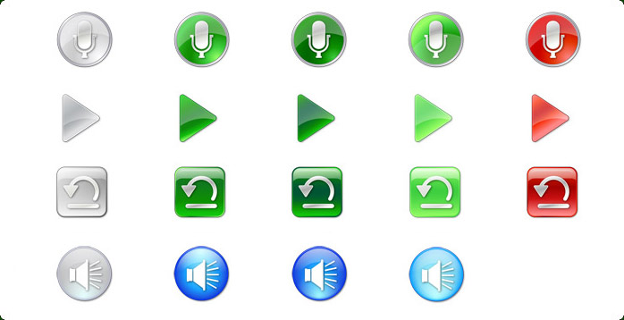 VCR icons of Multimedia Icon Set