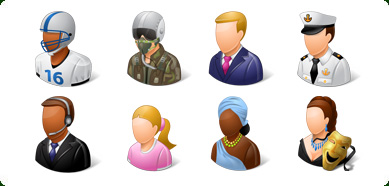 Vista Style People Icons Set