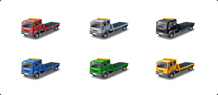 Vista Style Transport Icon Set - One icon in different variations
